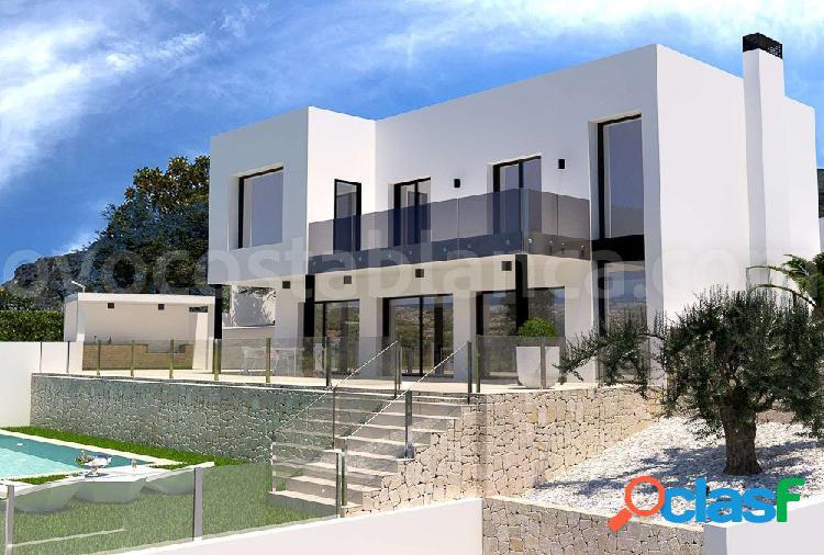 Nueva Villa De Lujo Con Vistas Panorámicas Y Piscina en