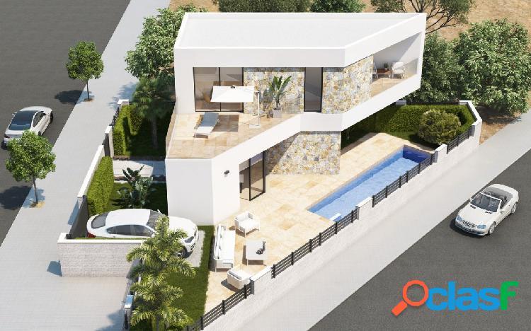 Nueva villa de arquitectura moderna con piscina privada