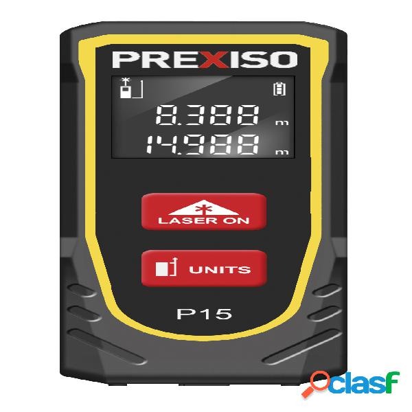 PREXISO 8250368 - Medidor láser de hasta 15 m de alcance