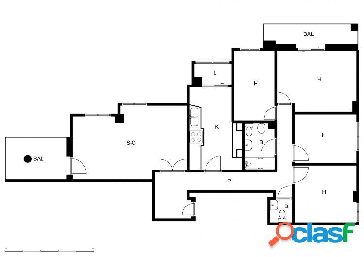 Piso de 4 dormitorios en Barranda