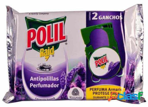 Polil Insecticida Raid con Gancho Fragancia Lavanda 2 uds 4