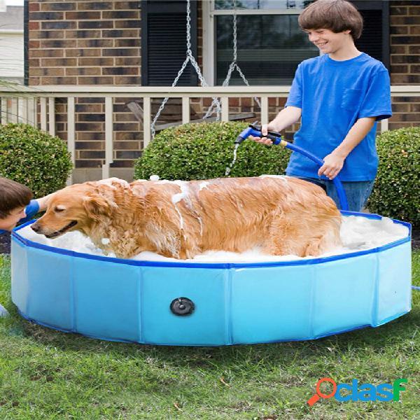 Pvc Pet Piscina Plegable Perro Bañera al aire libre Bañera