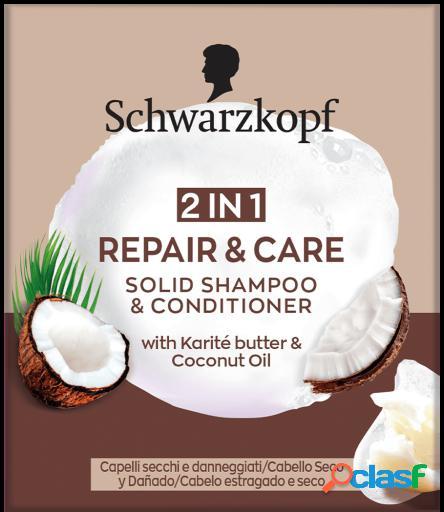 Schwarzkopf Champú Sólido Repair & Care 2 en 1 60 gr