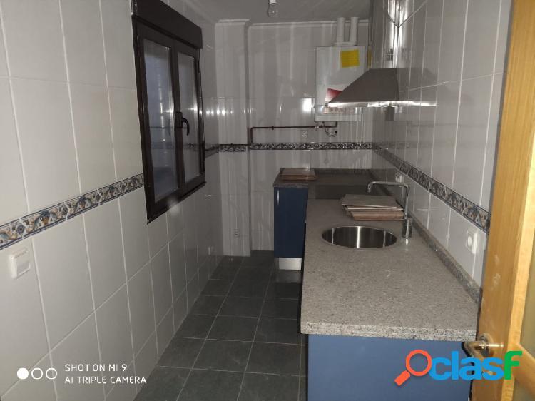 Se vende apartamento nuevo de 56 m2, cocina, salón, 2 hab,
