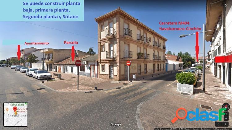 Solar urbano de 162 m². A 100 m de la plaza en Torrejón de