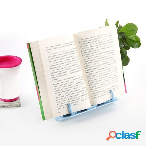 Soporte de libro de plástico portátil Soporte de documento