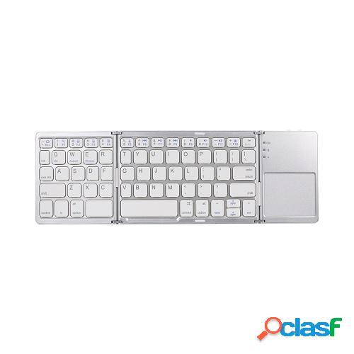 Teclado BT inalámbrico Mini teclado plegable Teclado BT
