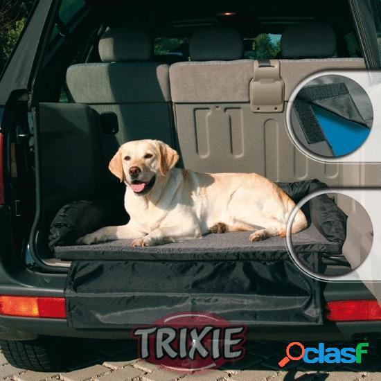 Trixie Cama para coche nylon/forro, 95×75 cm, Negro-Gris
