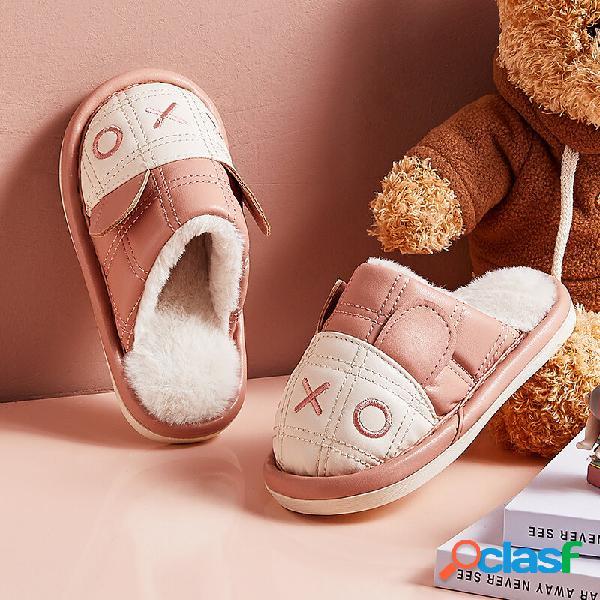 Unisex Niños Lindo Comfy Plush Warm Home zapatillas