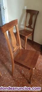 Venta de seis sillas de madera