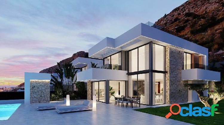 Villa moderna de lujo con vistas al mar en Finestrat