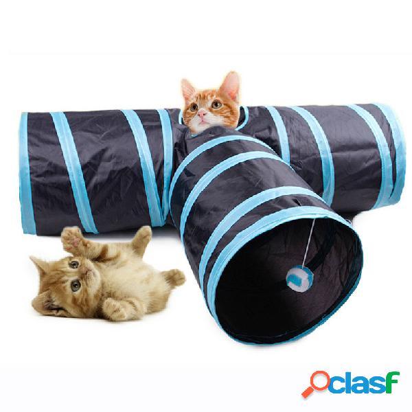 Yani MC-PW1 gato de 3 vías que juega el túnel juguetes