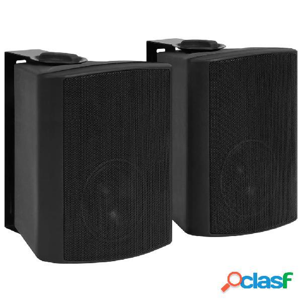 vidaXL Altavoces estéreo de pared 2 uds negro
