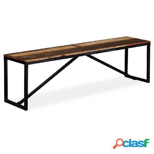 vidaXL Banco de madera maciza reciclada 160x35x45 cm