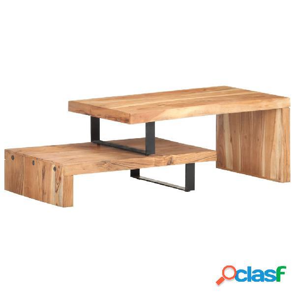 vidaXL Juego de 2 mesas de centro de madera maciza de acacia