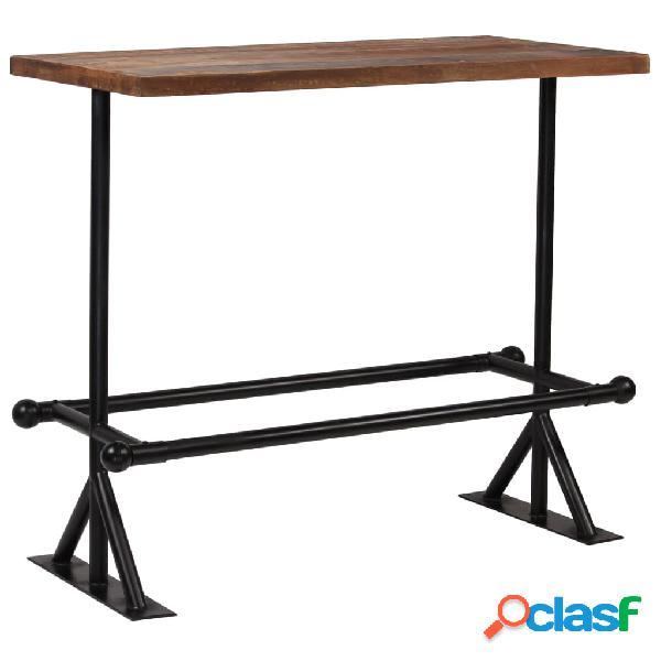 vidaXL Mesa de bar madera maciza reciclada marrón oscuro