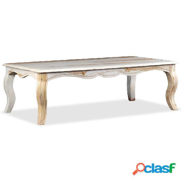 vidaXL Mesa de centro de madera maciza de sheesham 110x60x35