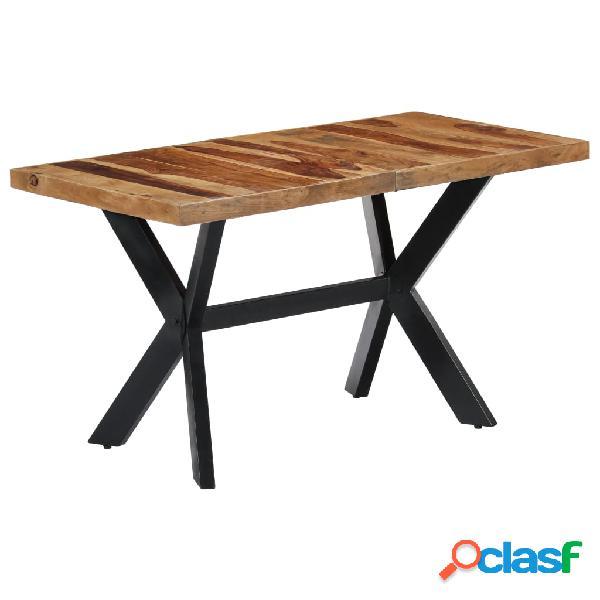 vidaXL Mesa de comedor 140x70x75 cm madera maciza de