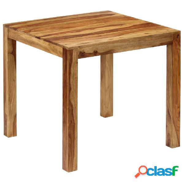 vidaXL Mesa de comedor de madera de sheesham maciza 82x80x76