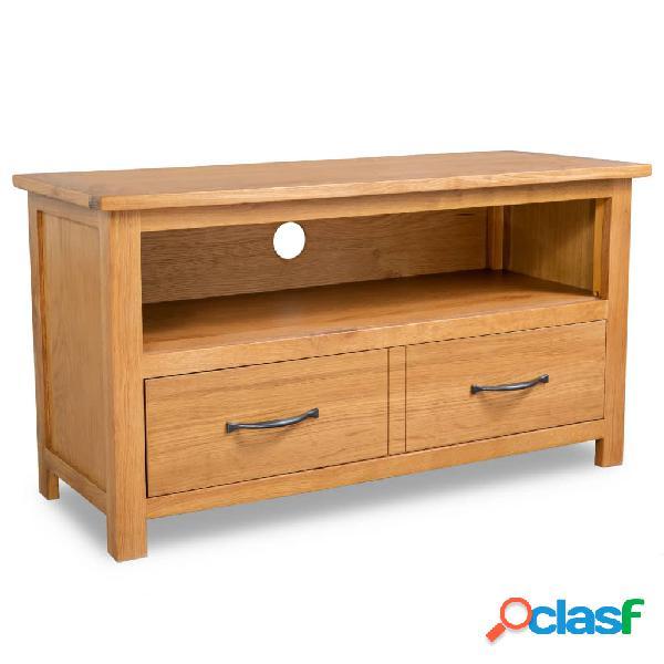 vidaXL Mueble para el televisor de madera maciza de roble
