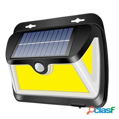 163 COB IP65 Lámpara de pared de inducción humana solar
