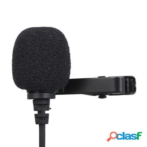 Micrófono de grabación de 3.5 mm Micrófono de solapa con