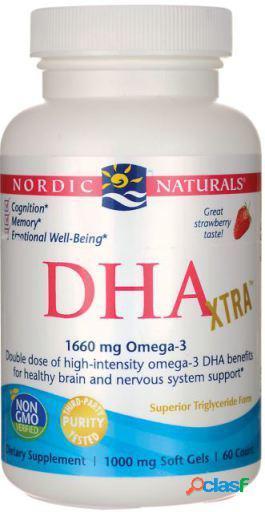 Nordic Naturals DHA Xtra Fresa 1000 mg 60 Cápsulas 120 gr