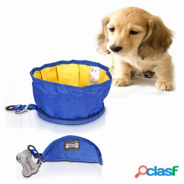 Plegable Impermeable Pet Perro Tazón Tazón de viaje