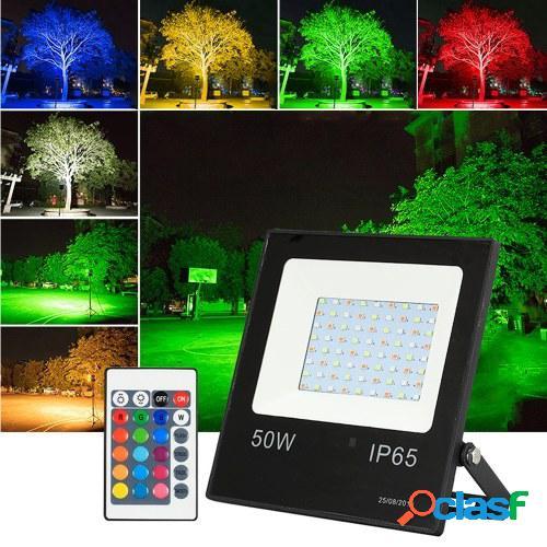 Proyector RGB LED de 10W con mando a distancia 16 colores 4