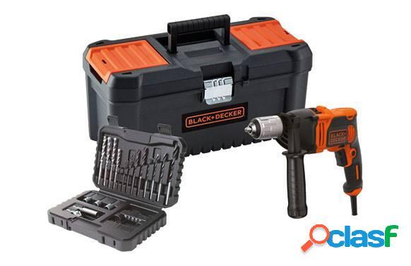 Taladro Percutor con cable Black & Decker BEH850KA32 con
