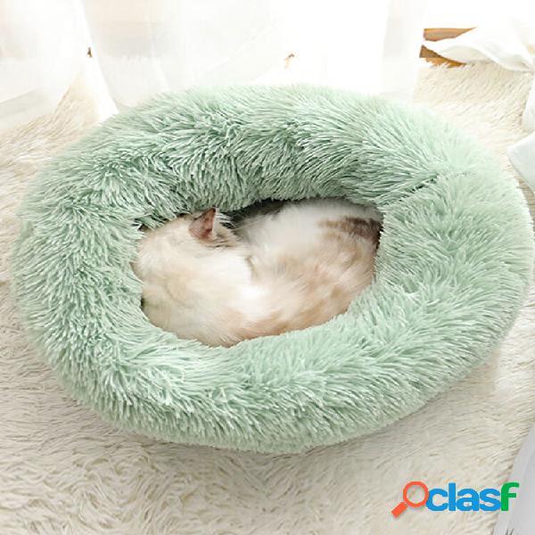 BODISEINT Modern Soft Cama redonda de felpa para mascotas