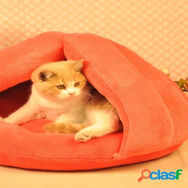 Cat Perro House Puppy Sleeping Bed Cojín Mat Pad Cave Pet