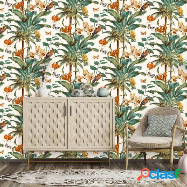 DUTCH WALLCOVERINGS Papel pintado palmeras tropicales verde