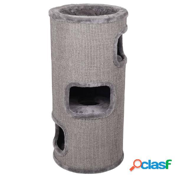 FLAMINGO Rascador para gatos en forma de barril Enes gris M