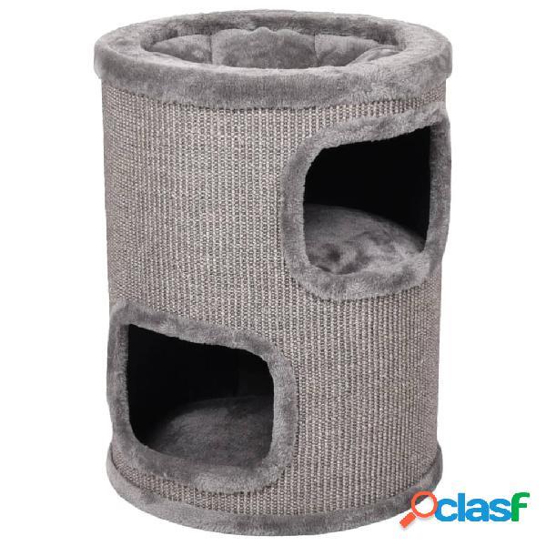 FLAMINGO Rascador para gatos en forma de barril Enes gris S