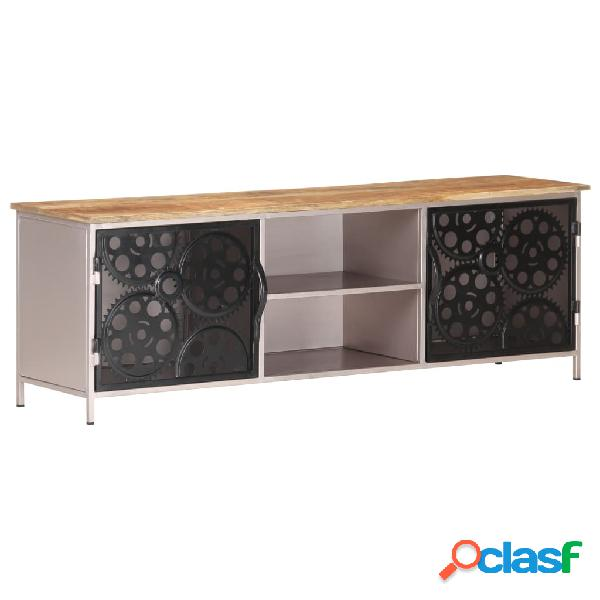 vidaXL Mueble para TV de madera de mango rugosa 120x30x40 cm
