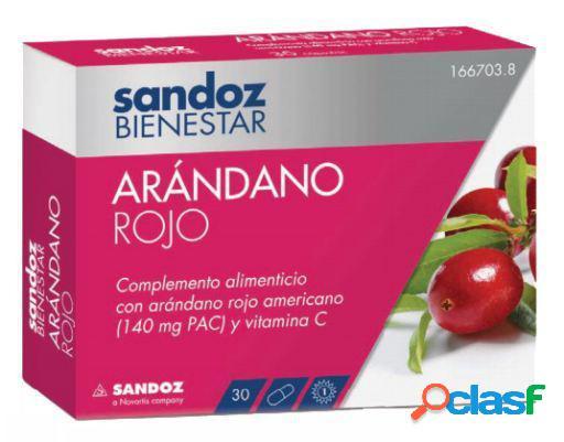 Sandoz Bienestar Arandano Rojo 30 Cápsulas