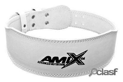 Amix Cinturón Deportivo de Cuero Blanco XL