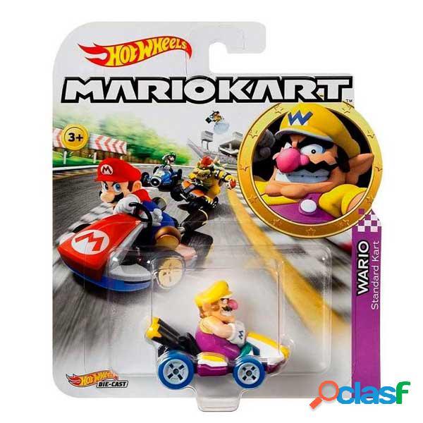 Hot Wheels Coche Wario Mario Kart 1:64