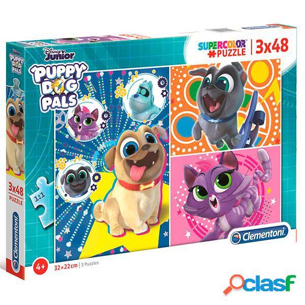 Puzzle 3x48p Puppy Dog Pals