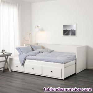 DIVAN Sofá, cama individual, cama doble y almacenaje, todo
