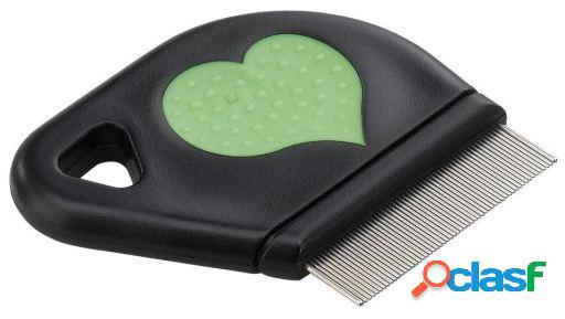 Ferplast Cepillo Carda Anti-fleas comb W-heart Gro 5812