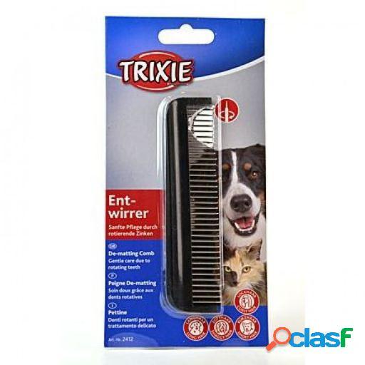 Trixie Cepillo Carda Puntas Metálicas gatos perros 13 cm