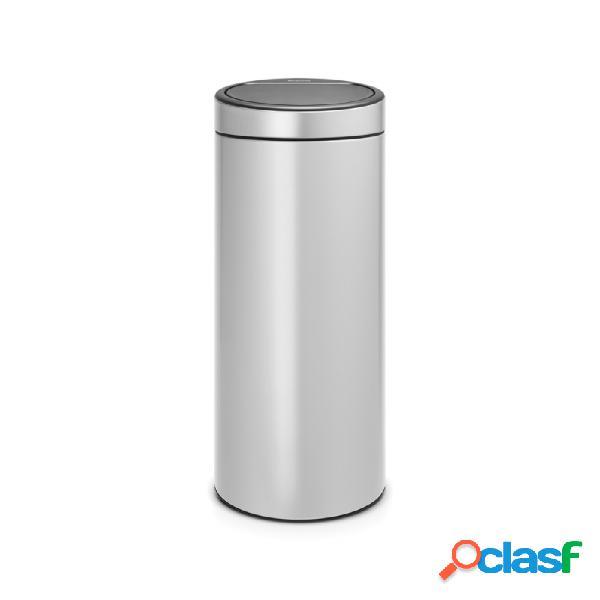 Cubo de basura brabantia touch bin metalic grey 30 l