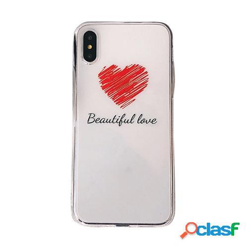 Phonecase Diseños en forma de corazón rojo transparente