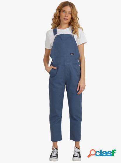 Free Rider - Pantalón de Peto Carpintero para Mujer - Azul