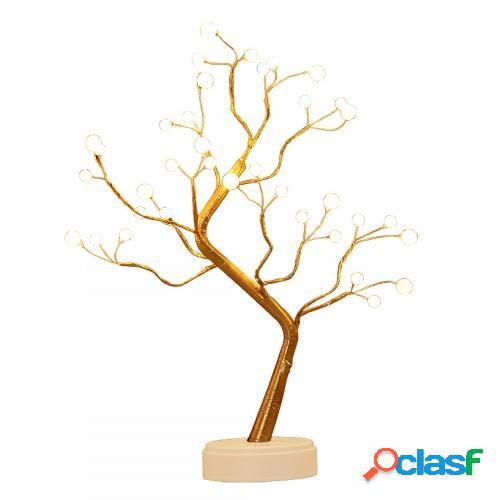 Luces de ramas de árbol 36 LED Escritorio interior USB o