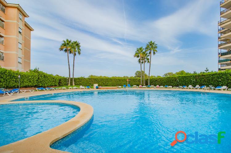 Se vende amplio piso de tres dormitorios con piscina
