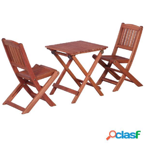 vidaXL Mesa y sillas de jardín para niños 3 pzas madera de