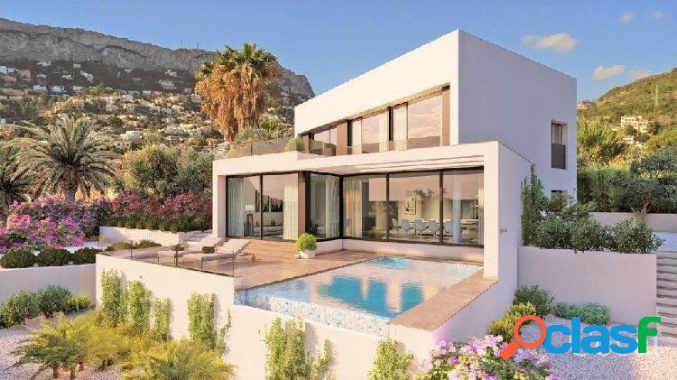 Calpe: Moderna villa de nueva construcción con vistas